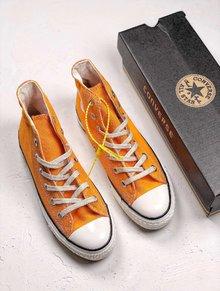图1_Converse All Star 1970S 复古搭配匡威三星帆布鞋 原装二次硫化底 侧胶夹层 纸板底 区别之前 涂油底 海代指定版 35 44