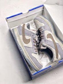 图1_Nike Dunk Low Premium SB 星球大战 NikeSB推出的这款Dunk Low 其灵感来自于StarWars中霍斯星球上独有的Tauntaun雪兽 整体鞋面选用了高档小山羊皮制作而成 并以深浅灰色tone呈现 货号 854866 206 SIZE 36 45