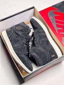 图1_Nike Air Jordan 1 Retro High 冬季搭配耐克 Nike Air Jordan 1 Retro High OG 优质进口头层反毛头层皮 冬季内里加绒 搭配羊毛舌头 后跟字母LOGO 乔一高帮板鞋 货号 BQ6579 002 SIZE 40 40 5 41 42 42 5 43 44 44 5 45 46
