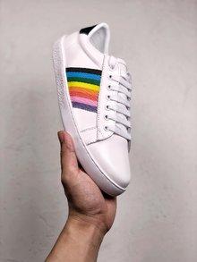 图3_GUCCI Ace Embroidered 轻奢单品拼色刺绣系列低帮板鞋