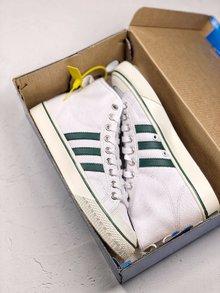图1_Adidas Nizza 百搭配色炸款 白绿高帮 吴亦凡 纯原版本 三叶草Adidas Nizza 潮鞋 货号 CQ3136 SIZE 36 44