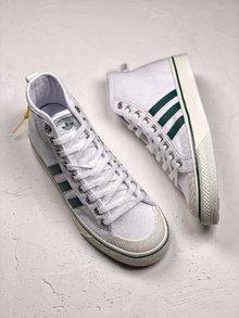 图2_Adidas Nizza 百搭配色炸款 白绿高帮 吴亦凡 纯原版本 三叶草Adidas Nizza 潮鞋 货号 CQ3136 SIZE 36 44