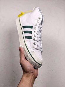 图3_Adidas Nizza 百搭配色炸款 白绿高帮 吴亦凡 纯原版本 三叶草Adidas Nizza 潮鞋 货号 CQ3136 SIZE 36 44