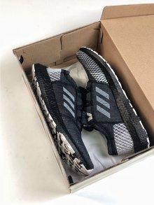 图1_Adidas Pure Boost GO巴斯夫鱼鳞纹爆米花中底系列慢跑鞋跑翻街头 GO黑灰配色 彭于晏上脚同款size 36 45