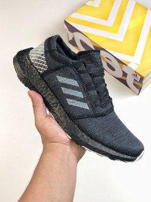 图2_Adidas Pure Boost GO巴斯夫鱼鳞纹爆米花中底系列慢跑鞋跑翻街头 GO黑灰配色 彭于晏上脚同款size 36 45