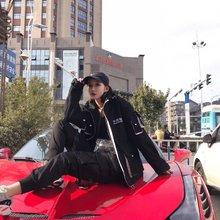 图2_国潮 中国制造 工装棉服宽松拼接多口袋白搭嘻哈棉服外套