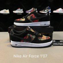 图1_真标半码 Nike Air Force 1 07 空军一号 格子 牛仔布休闲板鞋 货号 1934725