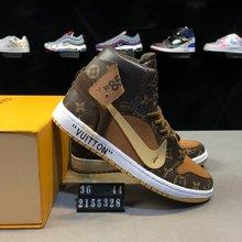 图3_真标 带半码 耐克NIKE Nike Air Jordan AJ1 Nike Air Jordan AJ1 x Louis Vuitton x Off White OW联名客制版路易威登LV 乔丹一代 高帮 时尚百搭板鞋 货号 2155328