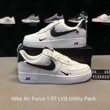 图1_创意联名 后跟提带设计 耐克Nike Air Force 1 07 LV8 Utility Pack空军一号经典百搭板鞋 黑白小勾 货号 0128222