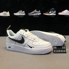 图3_创意联名 后跟提带设计 耐克Nike Air Force 1 07 LV8 Utility Pack空军一号经典百搭板鞋 黑白小勾 货号 0128222