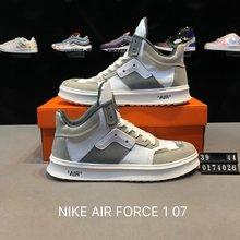 图1_耐克NIKE AIR FORCE 1 07 空军一号高帮皮面联名休闲板鞋 货号 0174026