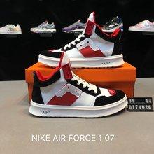 图2_耐克NIKE AIR FORCE 1 07 空军一号高帮皮面联名休闲板鞋 货号 0174026