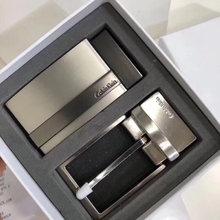 图3_CK双头礼盒装腰带 两面都是二层牛皮 可以两面使用 一面黑色 一面深棕色 双扣头 两个款式扣头 长 尺码约120cm 礼盒包装