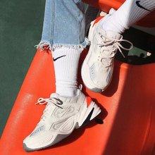 图2_真标高品质 现货主推 Off White客制联名Virgil Abloh x Nike M2K Tekno耐克 复古双勾老爹鞋米色 Size 36 37 5 38 39 40 41 42 43 44 45
