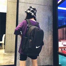 图3_2018耐克背包高密度聚酯纤维简约双肩包 学生书包 帆布拼接简约设计不简单 独显品位 超大多变容量空间 卓越品质 颜色黑色 灰色 50 30